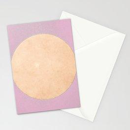 San Francisco Moon Minimalism Sweet Lilac Beige Stationery Cards