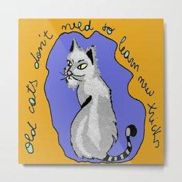 Cat Drawing Metal Print