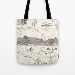 Vintage Map of The White Mountains (1871) Tote Bag