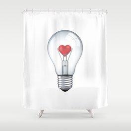 Lamp heart Shower Curtain