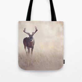 Male Deer in a grassland Tote Bag