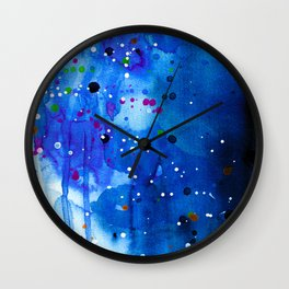 Fireflies - Abstract painting Wall Clock