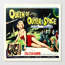 Queen of Outer Space Canvas Print