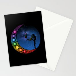 Crescent Moon Chakra - Nightscape Stationery Cards