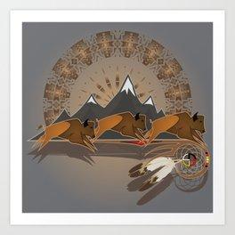 Native American Indian Buffalo Nation Art Print
