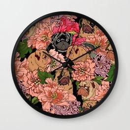 Because Pugs Wall Clock