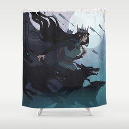 Drawlloween Huntress Shower Curtain