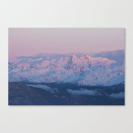 Perfect sunrise in South Tyrol - Landscape and Nature Photography Canvas Print
