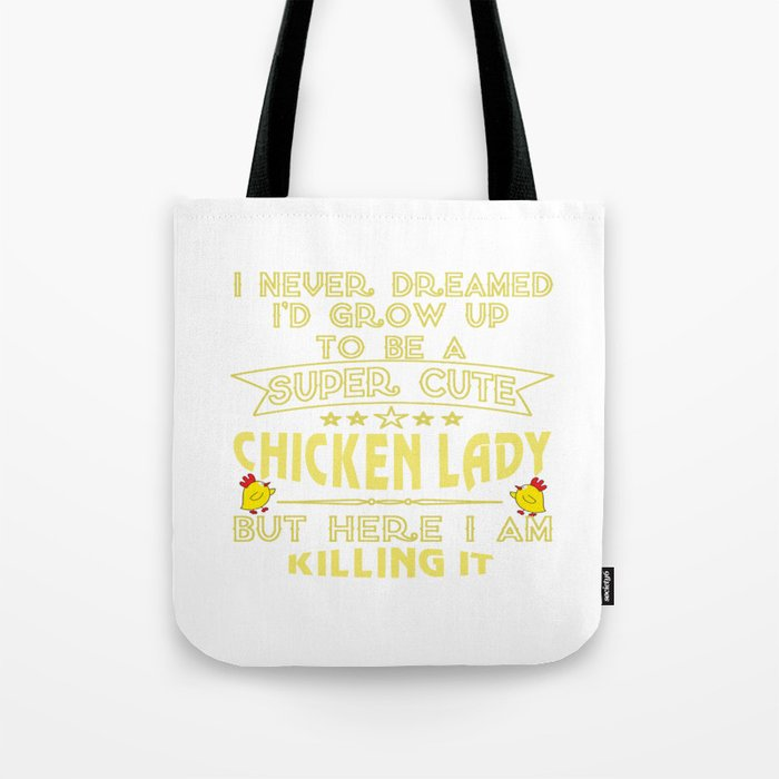 Super cute Chicken lady Tote Bag