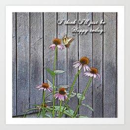 Cone Flowers - Happy Art Print