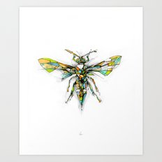 Insect Series - Hornet Art Print