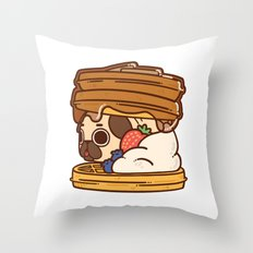 Puglie Waffles Throw Pillow