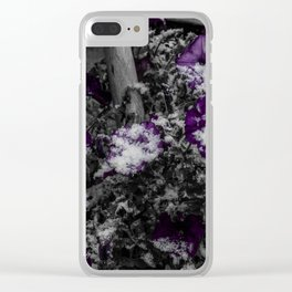 First Snow Of The Season Clear iPhone Case