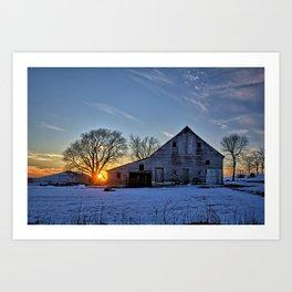 Barn Sunset Art Print