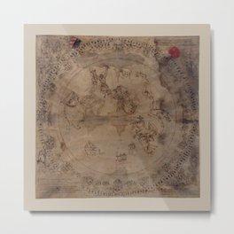 Constellation Chart 1503 Metal Print