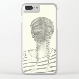 French braids 01 Clear iPhone Case
