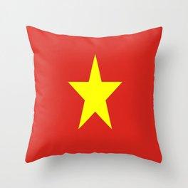 Flag Of Vietnam Throw Pillow