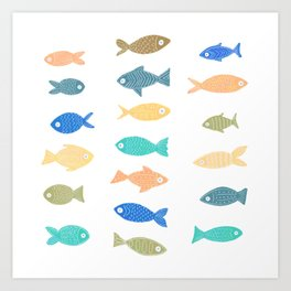 Colorful Fish Art Print