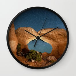 Brobroken Arch Night Sky Wall Clock