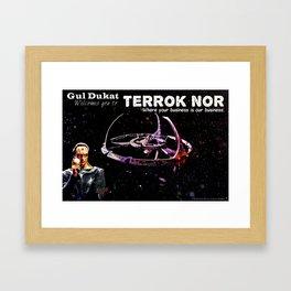 Terrok Nor Poster - Star Trek DS9 Framed Art Print