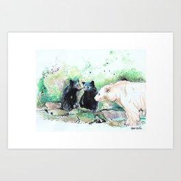 Spirit Bears Art Print