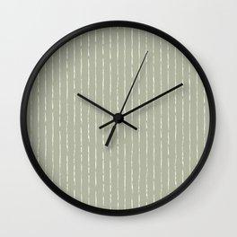 Lines II (Linen Sage) Wall Clock