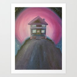 House in the Pink Sky Art Print