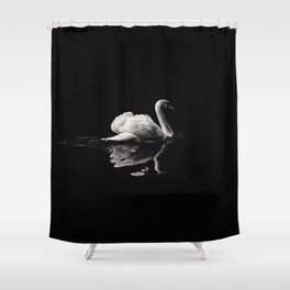 Dramatic Swan Shower Curtain