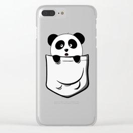 Pocket Panda Onesie Clear iPhone Case