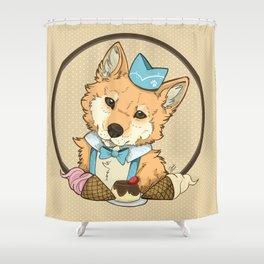 inushiba Shower Curtain