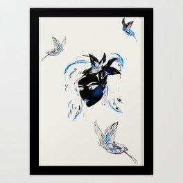 Papillon Art Print