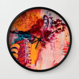 Tree Above Wall Clock