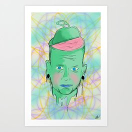 Open your mind. Art Print