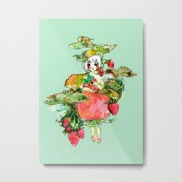 Picking Straberry採草莓 Metal Print