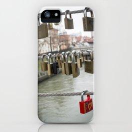 Love padlocks iPhone Case