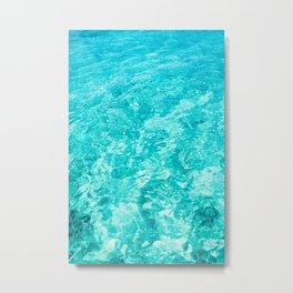 Turquoise Blue Ocean Water Metal Print