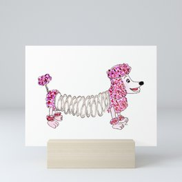 Slinky Poodle Mini Art Print
