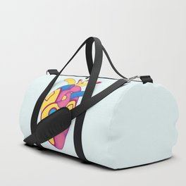 Yellow Submarine Heart Duffle Bag