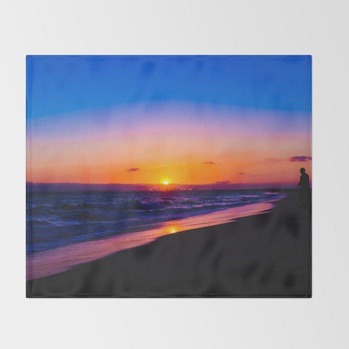 outstanding sunset Throw Blanket
