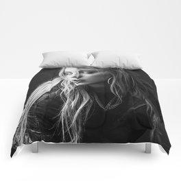 Billie Eilish Black White Comforters