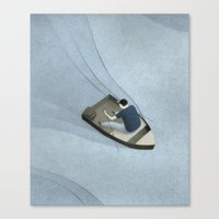 rowing Canvas Prints featuring Rowing by Naftali Beder