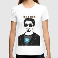 tony stark T-shirts featuring Tony Stark is IRON MAN by Elisehill3