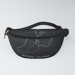 Rhode Island State Road Map Fanny Pack