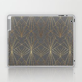 Art Deco in Gold & Grey Laptop & iPad Skin