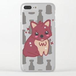 Coyote Cutie Clear iPhone Case