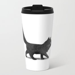 Creeping Cat Metal Travel Mug
