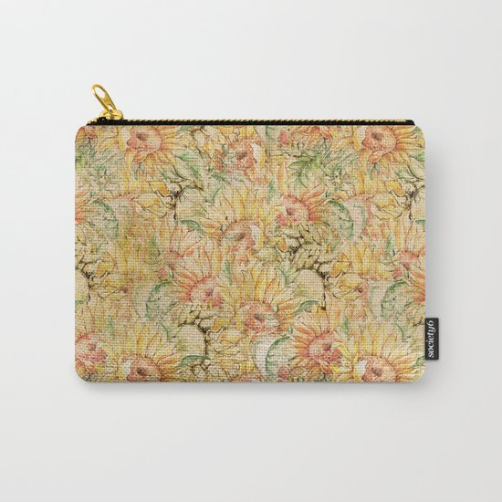 Vintage Sunflowers #1 Carry-All Pouch