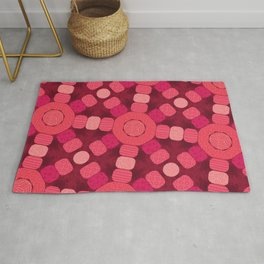 Pink Patterned Pebbles (Geometric pattern) Rug