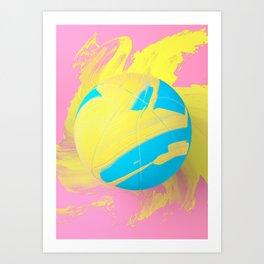 Painted Object Art - Basketball Art Print