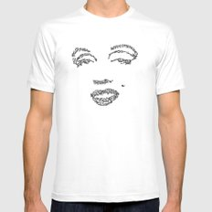 Marilyn Monroe WordsPortrait Mens Fitted Tee White MEDIUM